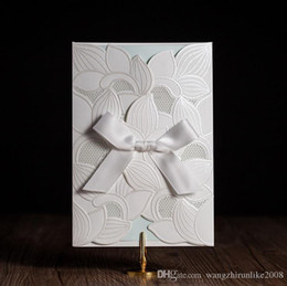 Lowest price wedding invitation cards australia new featured hot selling ivory wedding invitations cards personalized white wedding invitation cards with newest designs dhl free shipping in low price stopboris Image collections