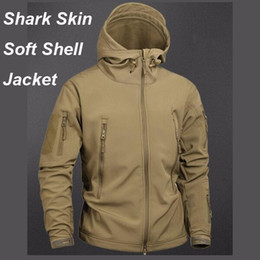 Army jAcket tAd online shopping - Camouflage Tactical Shark Skin Jacket Waterproof Windbreaker Raincoat Clothes Army TAD Jacket Men Softe Shell Coats And Jackets