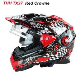 $enCountryForm.capitalKeyWord NZ - Hot sale THH Helmets motocross off road helmet capacete casco moto racing motorcycle helmet full face helmets windshield DOT
