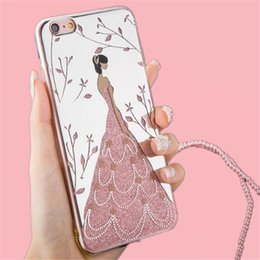 hot iphone girl Australia - 2017 hot product high quality colorful TPU Wedding Dresses Girl Lanyard phone Cases for your selection