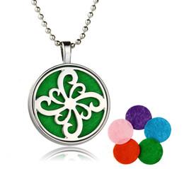 $enCountryForm.capitalKeyWord NZ - .Fashion Hollow Aromatherapy locket perfume oil diffuser necklace with cotton cushion DIY jewelry for women EXL320
