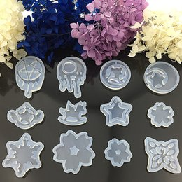 Wholesale Transparent Silicone Mould Cake DIY Mold Decorating Collection Crystal mould moon star of food grade silico IC656