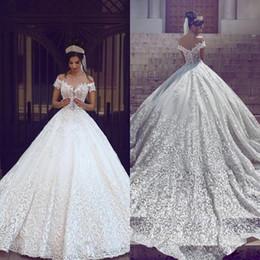 elegant vintage style princess wedding dresses off shoulder short sleeve appliques organza bridal dress latest charming wedding bridal gowns