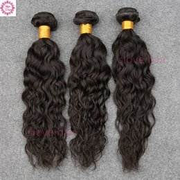 ocean wave hair NZ - Raw Indian Hair Indian Water Wave Virgin Hair Ocean Wave 3 Bundles Wet And Wavy Human Hair Weave Bundles OSA