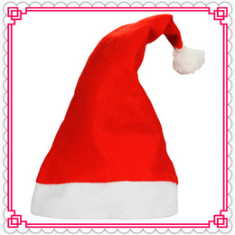 2018 new baby decorations Christmas holiday party Decoration hats Xmas caps Party Hats Santa Claus hat adults children kids baby Christmas Cosplay Hats gift new discount new baby decorations
