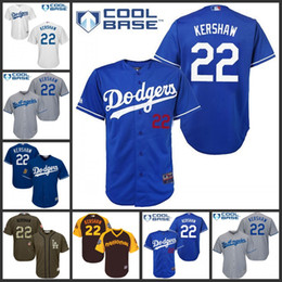bfb0e1379 ... Kids Los Angeles Dodgers 22 Clayton Kershaw Baseball Jersey Blue White  Brown New CoolBase FlexBase Stitched .