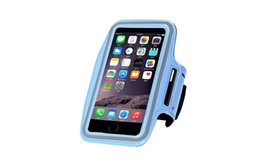 phone holder for running purple UK - Universal Waterproof sport Armband Case Running Pounch Phone Bag For Iphone 7 6s Plus S6 S7 edge key Holder Arm Band cell phone