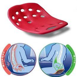 Tapis de correction assis Postez la chaise pour soulager le mal de dos Assis, le coussin de correction protège le coussin lombaire cervical Adolescents en Solde