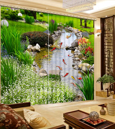 Classic Home Decor garden liver 3d curtains fashion decor home decoration for bedroom on Sale