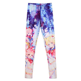 China Wholesale- Elastic Casual Pants 3D Digital Printing Sailor Moon Series Pattern Women Leggings 7 sizes Fitness Clothing Free Shipping cheap sailor moon s suppliers