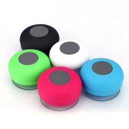 Suction Speakers NZ - Shower Waterproof Bluetooth Speakers Wireless BTS-06 Mini Portable Speaker with Suction Cup Car Handsfree MIC Receive Call & Music Free DHL