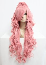 luka megurine cosplay Canada - MCOSER Women Wig Best Grade Popular Vocaloid Megurine Luka 90cm Pink Long Wavy fashion Party Anime Cosplay Wig Free Shipping