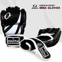 1d52b72a2 Kick Luvas De Boxe Mma Luvas Muay Thai Treinamento Luvas Mma Boxer Luta  Equipamentos De Boxe Metade Mitts Badboy Pu Preto De Couro