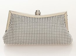 black evening clutch Canada - Evening Clutch Bags Diamond-Studded Evening Bag With Chain Shoulder Bag Women's Handbags Silver Gold Black Wallets Socialite Cosmetic bag