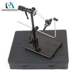 Discount fly tying tools Wholesale- Maximumcatch New Iron Rotary Fly Tying Vice With Heavy Duty Base Fly Hook Tool Fly Tying Vise