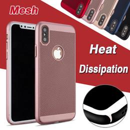 $enCountryForm.capitalKeyWord Canada - Heat Dissipation Mesh Net Grid Hollow Dot Hard Case Cover For iPhone XS Max XR X 8 7 6 Plus Samsung Galaxy S10 E S9 M10 M20 A30 A50 A6S A8S