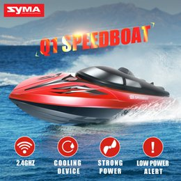Remote Control Rc Boats Canada - Wholesale- Original SYMA Q1 Q2 RC Speed Boat 2.4G Remote Control Simulation Speed Craft Cooling Device Boat High Quality