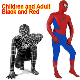 Costume Pour Homme Et Femme Pour Homme Zentai Pas Cher-Amazing Spandex Spiderman Noir Costume Vêtements Costume Garçon Enfants Enfants Spiderman Costume Zentai Halloween Cosplay Costume
