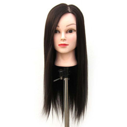 mannequin head hairdressing UK - Beauty Salon High Temperature Fiber Mannequin Practice Training Head Hairdressing With Synthetic hair + Clamp Free Shipping
