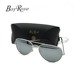 Chinese  BoyRose 58MM Silver Mirror Persol Aviator Pilot Vintage Sunglasses For Men Women UV400 Band Rays Polarized Lenses Sun Glasses Bans With Case manufacturers