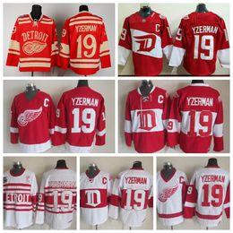 White Mens Reebok Third Mens Throwback Detroit Red Wings 19 Steve Yzerman  Hockey ... ad59039ff