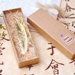 Pack Supplies Australia - Feather Copper Bookmark Metal Originality Chinese Wind Retro Ancient Book Marker Creative Gift Exquisite Box Packing 5 68cj F R