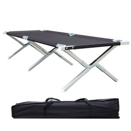 Family Frames Canada - Portable Folding Camping Cot Military Grade Aluminum Frame Perfect for Base Camp, Camping and Hunting with Free Zippered Storage Bag