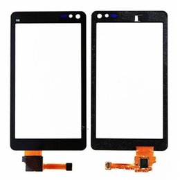 Touch Screen N8 NZ - Top Quality Black Silver Color Touch Screen Digitizer Panel For Nokia N8 With Frame 1PC Lot