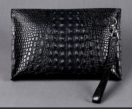 Chinese  Men clutch bags genuine crocodile leather soft sturdy Men small business Clutch bags 29cm wide super large volume manufacturers