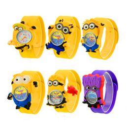 Chinese  3D Cartoon Snap Watch Children Kid Slap Snap Watches Silicone Quartz Wristwatch Students Chirstams Birthday Gift Watches manufacturers