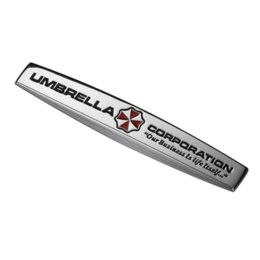 Car Emblem Logos Badges UK - Umbrella Corporation Resident Evil Zombie 3D Metal Car Auto Motorcycle Badge Chrome Logo Emblem Sticker SUV Truck Car-Styling