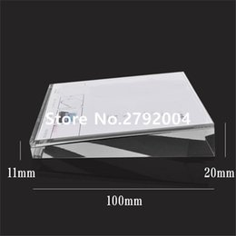 Discount holder display phones - Wholesale- mobile phone store acrylic display price tag holder 10*10cm