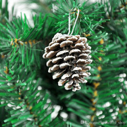 Decor Ornament Australia - HOT sale! Christmas Tree Hanging Decorations Balls Pine Cones Simulation Natural Pineal 6pcs Lot Party Ornament Decors 2018