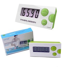 Wholesale New fashion Countdown Timer minute seconds LCD Digital Lab Kitchen Mini Timer Relay Digital LCD Timer Product Code