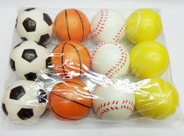 stress relief gifts 2019 - Solid PU Foam Pressure Nets Baseball Ball Care Ball Toys for Children Finger Exercise Stress Relief Therapy Assorted Sty