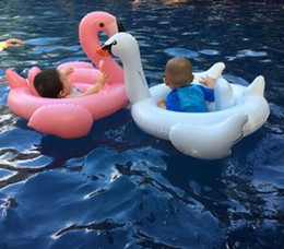Inflatable Baby Float Seat NZ - Baby Swimming Ring Inflatable Seat Boat Water Swim Ring Pool Swiming Float Swimming Pool Beach Toys Flamingos Swan Watermelon DHT49
