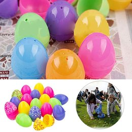 Discount colorful easter eggs 2017 colorful easter eggs on sale colorful easter eggs plastic eggs diy children party gifts decoration hunt easter party favors supplies negle Image collections