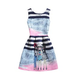 Outfit Mother Child Canada - Baby Kids children Clothing 2019 Family Matching Outfits family City print mother and daughter matching dresses girls dress clothes #5078