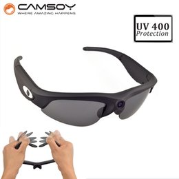$enCountryForm.capitalKeyWord Canada - Wholesale-Lightweight 32g Mini Camera UV400 Protection HD Sunglasses Camera 140 Degree Wide Angle Glasses Camera Sunglasses Camcorder