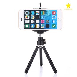 Wholesale Universal Portable Mini Rotating Flexible Tripod Bracket Stand Holder Camera Accessories Adapter Phone Supplies For iphone Samsung HTC w
