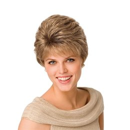 Discount blonde hair bangs straight wigs - Short Wig Bob Straight Synthetic Hair Cheap Full Bang Wig for Women Heat Resistant Blonde Synthetic Wig