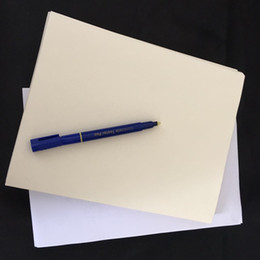 $enCountryForm.capitalKeyWord NZ - 200 sheets anti-counterfeiting paper 100% cotton linen pass counterfeit pen test paper high quality hot sale ivory color paper in US
