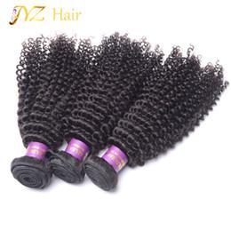 $enCountryForm.capitalKeyWord Canada - JYZ Brazilian Hair Bundles Kinky Curly Brazilian Virgin Hair Weave 3Pcs Unprocessed Natural Color Machine Double Weft