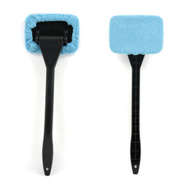 China Wholesale- Microfiber Long Handle Window Cleaner Car Wash Brush Dust Car Care Windshield Shine Cloth Handy Car Cleaning Brush ME3L cheap long handled window cleaning brush suppliers