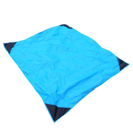 China 20pcs 7 Color 140*152CM Portable Folding Beach Mat Camping Picnic Blanket Lawn Nylon Damp-proof Pad Outdoor Equipment supplier picnic equipment suppliers