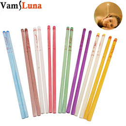 Wholesale 100X Natural Ear Candle Pure Bee Wax Thermo Auricular Therapy Straight Style Indiana Fragrance Candling Cylinder For Ear Care
