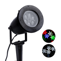 Stage laSerS online shopping - Waterproof Moving Snow Laser Projector Lamps Snowflake LED Stage Light For Christmas Party Light Garden Lamp Outdoor