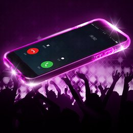 Iphone Call Phone Canada - Incoming call LED flash light shockproof clear TPU cover for iPhone xs max xr x 6s 7 8 plus phone case sansung s6 s7 s9 s8 plus note 9 8