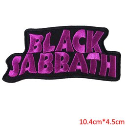 Rock Punk Band Patch UK - Free Shipping 10pcs Set BLACK SABBATH heavy metal punk rock band Iron On Patches label DIY letter for sweater jacket sportwear