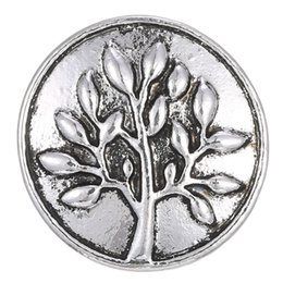 Metal Jewelry Gift Tree Canada - 10pcs lot Snap Buttons for Snap jewelry Metal Tree Of Life Round Buttons Charms Jewelry fit 18mm silver snap bangle